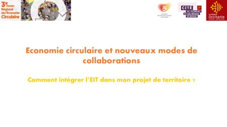 Comment intégrer l'EIT dans mon projet de territoire ?