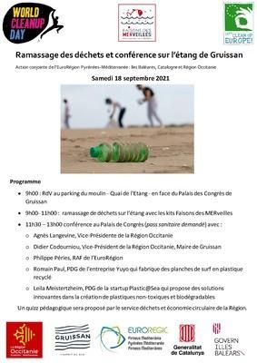 Evènement EuroRégion - Région Occitanie : ramassage de déchets et conférence