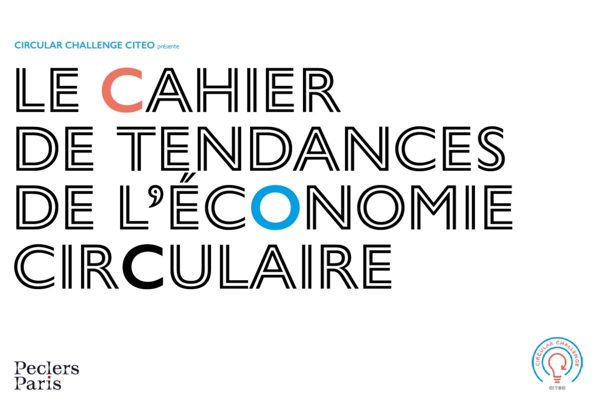 Cahier des tendances de l'économie circulaire