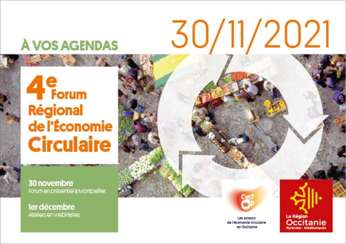 Prenez date : 4ème forum Régional Économie Circulaire en Occitanie