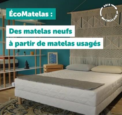 4ème épisode de la Web série#Agircirculaire- EcoMatelas, des matelas neufs à partir de matelas usagés !