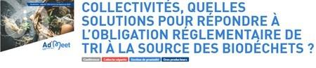 Collectivités, quelles solutions pour répondre à l'obligation réglementaire de tri à la source des biodéchets ? Evénement en ligne