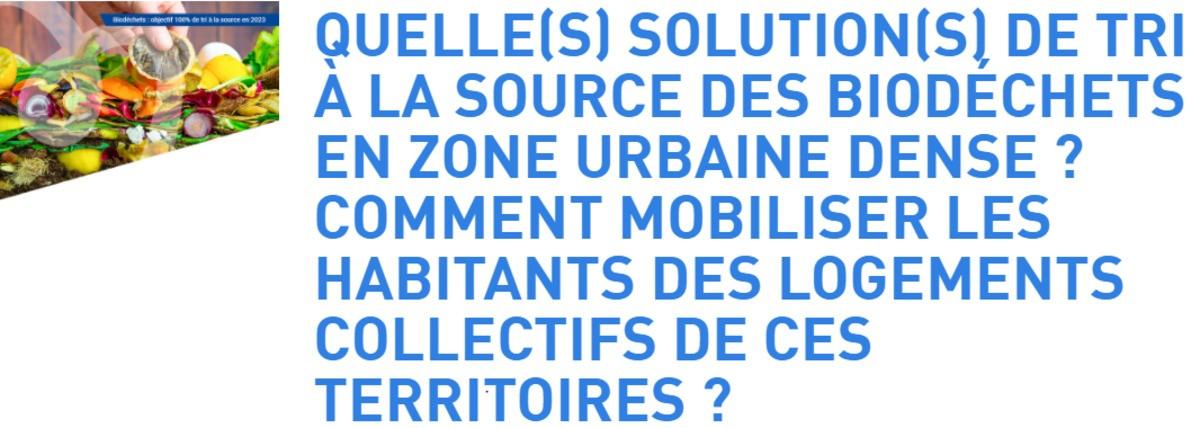5ème rendez-vous du cycle de [web-événements] sur le tri à la source des biodéchets proposé par l'ADEME