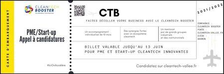 Candidatez au CleanTech Booster et faites décoller votre business