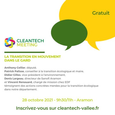 CleanTech Meeting : la transition écologique en mouvement dans le Gard