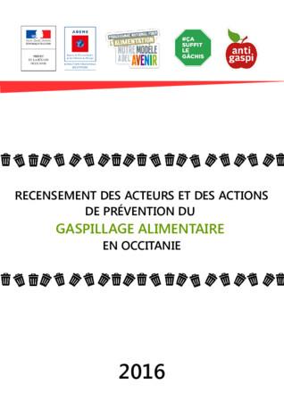 Recensement des acteurs et des actions de prévention du gaspillage alimentaire en Occitanie