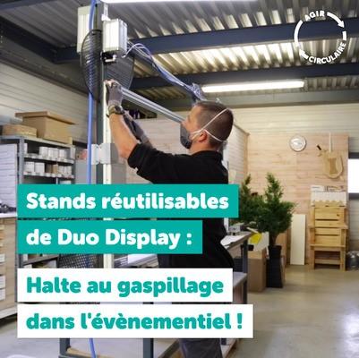 Des stands événementiels réutilisables avec Duo Display