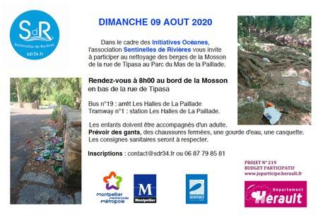 Nettoyage des berges de la Mosson/Parc du Mas de la Paillade